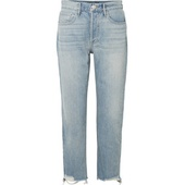 3x1 W3 Higher Ground cropped frayed high-rise straight-leg jeans 2ef2954dc971a